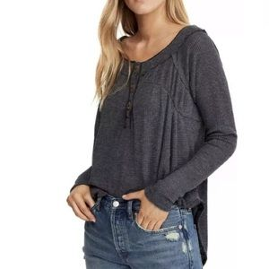 Free People Tops - ⚡️SOLD⚡️Free People Henley Oversized Tunic Top